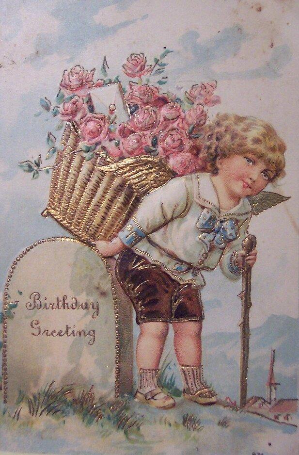Старинные английские открытки на день рождения, погоди картинки