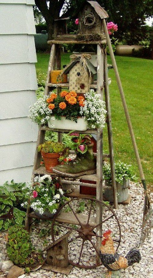Фото садовых участков оформленные своими руками