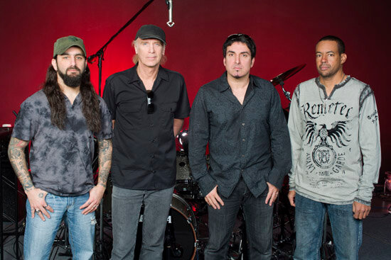 Mike Portnoy, Billy Sheehan, Derek Sheridian, Tony MacAlpine. Photo by Alex Solca