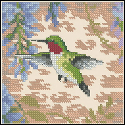 Схема для вышивки крестом Dimensions (Hummingbird And Wisteria) .