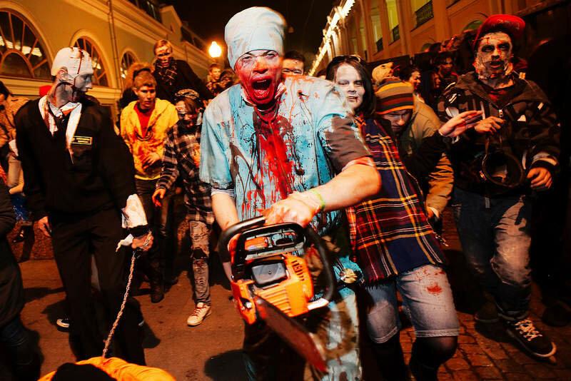 Zombie Walk в Санкт-Петербурге