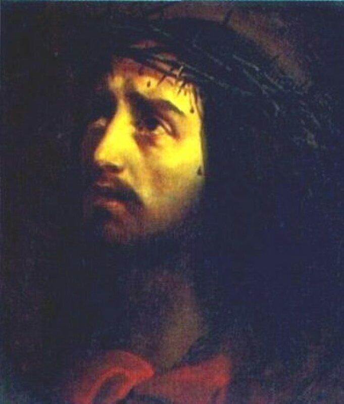 "Схема вышивки  ""Брюлов.Голова Христа."
