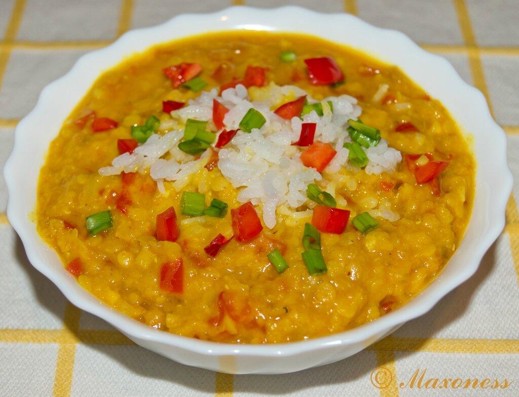 Мазур дал (суп из чечевицы с рисом). Индийская кухня