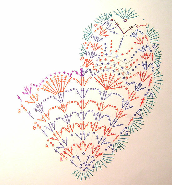 Хочу связать я сердце и сердце не простое.  Крючок лежит и пряжа, вот схема под рукою.  Сердечко для друга.