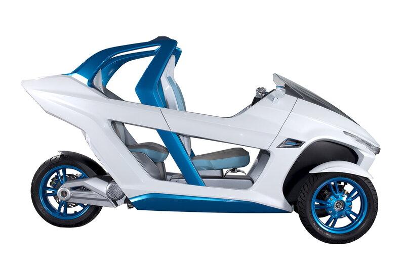 Выставка Intermot 2012: концепт электрического трёхколёсного скутера SYM EX3 - фото 13.