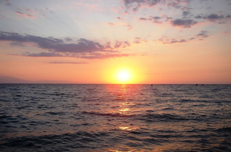Закат на Эгейском море