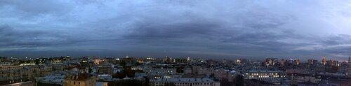 Ночная Москва с крыши гостиницы Пекин