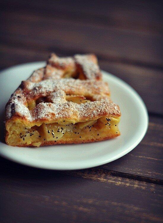 яблочно-грушевый пирог....
