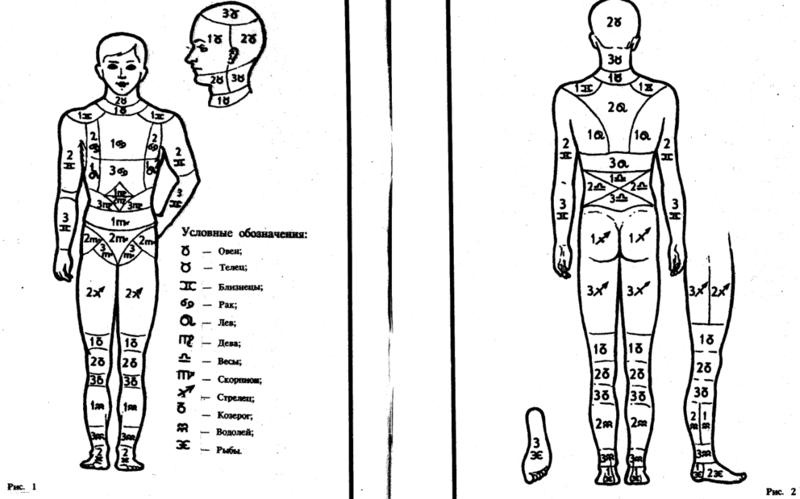 Знаки на теле человека картинки