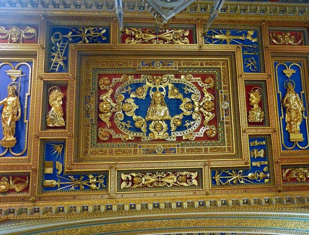 Деталь потолка над балдахином алтаря (Giovanni Antonio Paracca, 1642-46).