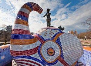 "Фонтан ""Девочка и слон"" на Пейзажной аллее Фото Константин © на Яндекс.Фотках"