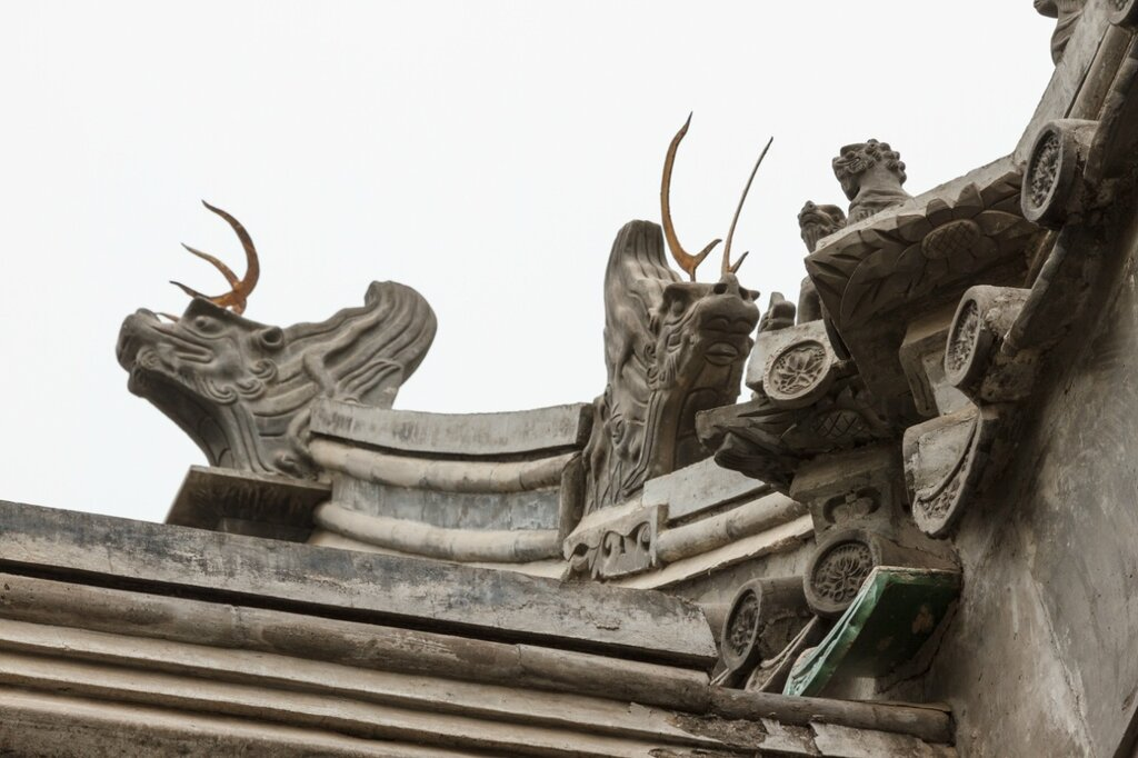 Деталь крыши, Гунванфу, Пекин