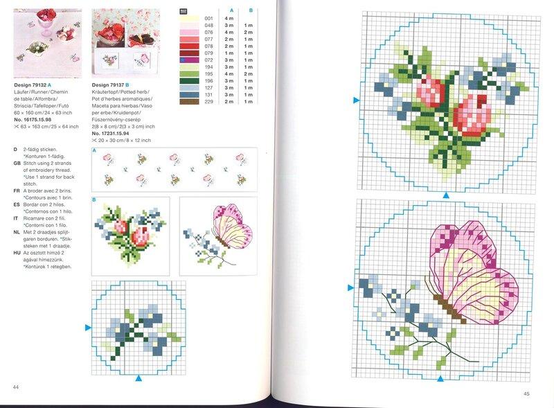 Мелкие цветы схемы для вышивки 665
