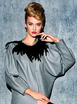 эксклюзивное пальто российского дизайнера