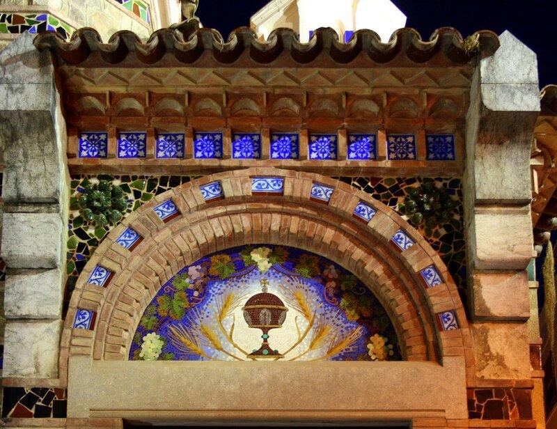 Мозаика в оформлении Iglesia de Sant Romà