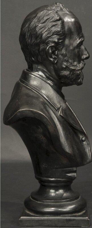 Бюст «Портрет П.И.Чайковского». По модели 1888 г. Роберта Робертовича Баха (1859-1933). Каслинский завод. 1900 г.