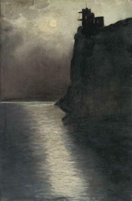 Григорий Капустин  (1865 – 1925). Ласточкино гнездо вечером. Начало 20 века.
