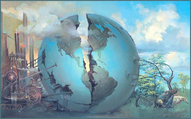 Женщина спасет мир. Художник John Pitre