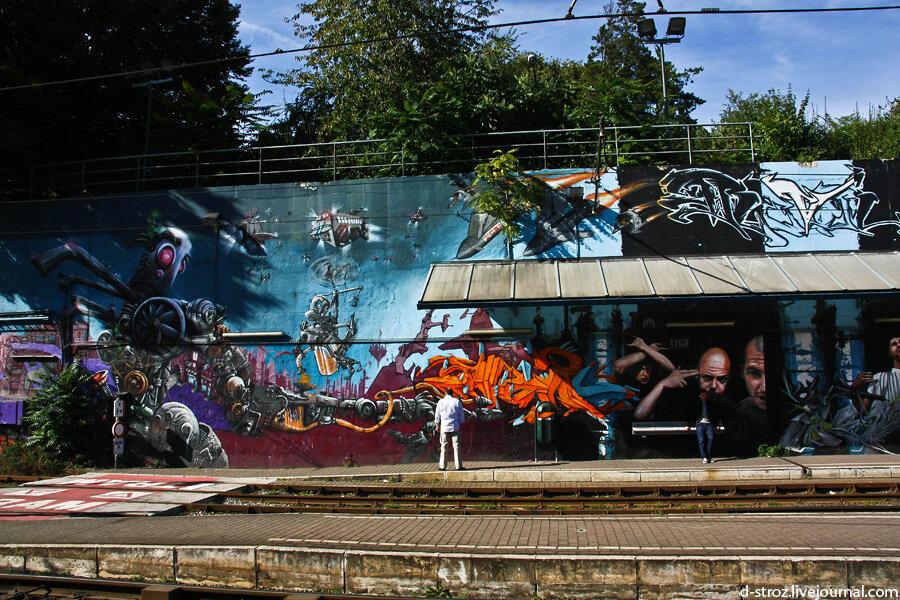 Брюссель граффити
