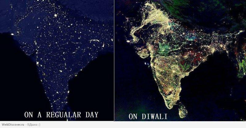 India Diwali Satellite Image Real Or Fake Iv G
