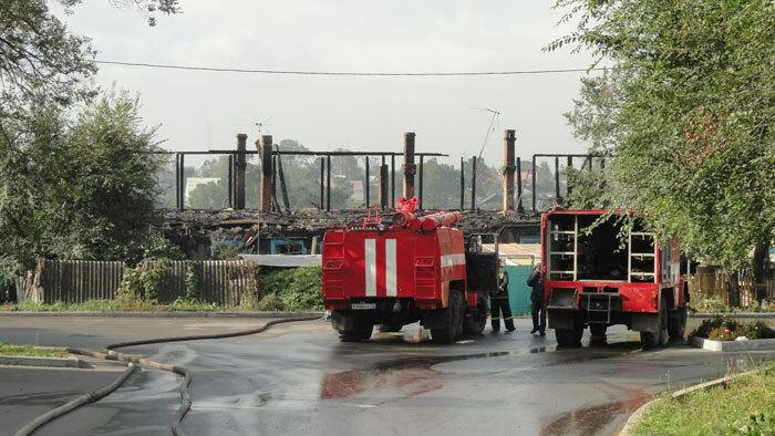 пожар в Трудовом