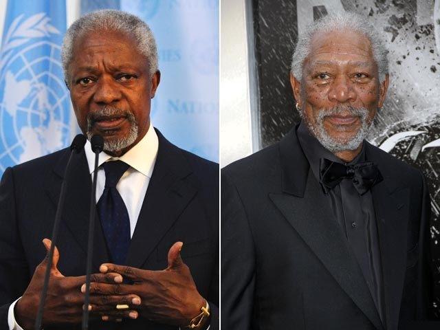 Бывший генсек ООН Кофи Аннан пожаловался журналистам: его принимают за актера Моргана Фримена