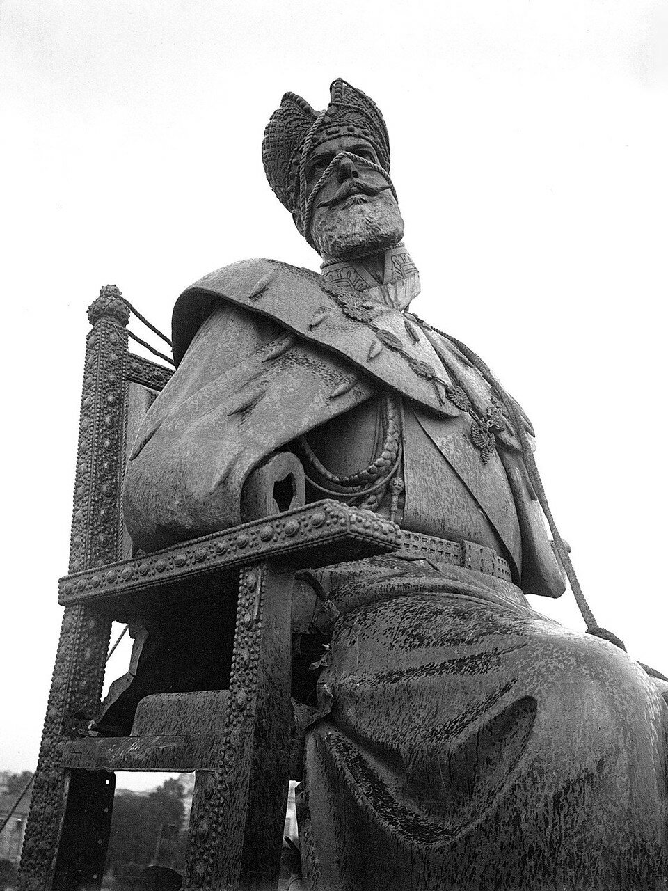 1918. Разрушение памятника Александру III