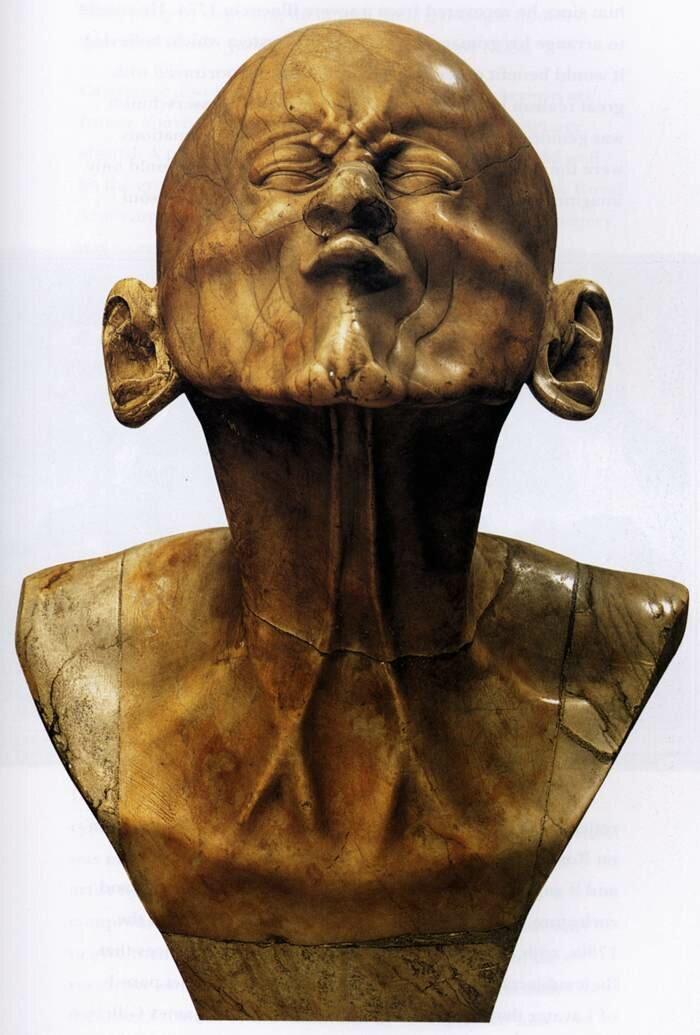 Character Head: The Beaked, 1770, Alabaster, height 43 cm, by Franz Xaver Messerschmidt (1736 – 1783);