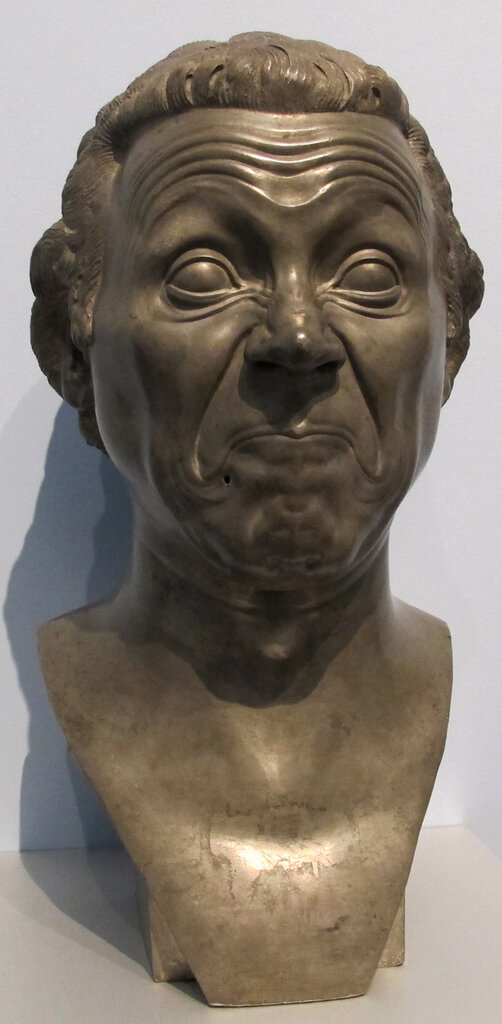 the satirical caricature of head, (с.1770-80) Franz Xaver Messerschmidt (1736 – 1783);