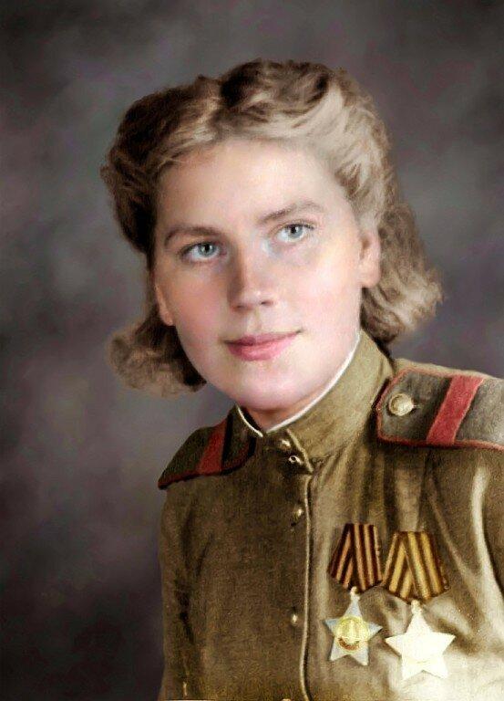 ШАНИНА Роза Егоровна - одиночный снайпер отдельного взвода снайперов-девушек 3-го Белорусского фронта, кавалер ордена Славы. Скончалась 28 января 1945 года в госпитале от осколочного ранения в живот.jpg