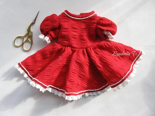платье для куклы, кукольное платье