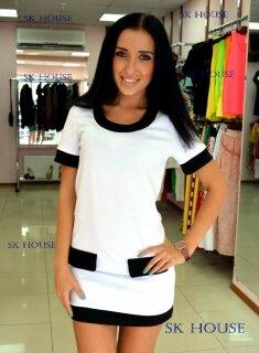 Бело черное платье с доставкой