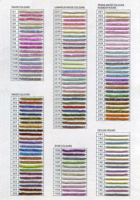 Цветовая гамма бисера.