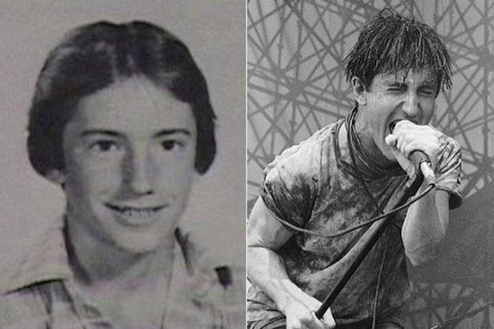 Школьные фотографии зарубежных рок музыкантов