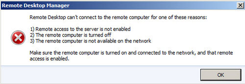 some RDP embedded (tabbed) connection doesn't work - Remote