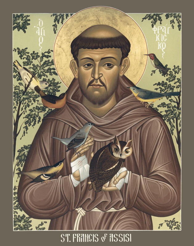 St. Francis of Assisi icon by Br. Robert Lentz, OFM, 1987, Courtesy of Trinity Stores