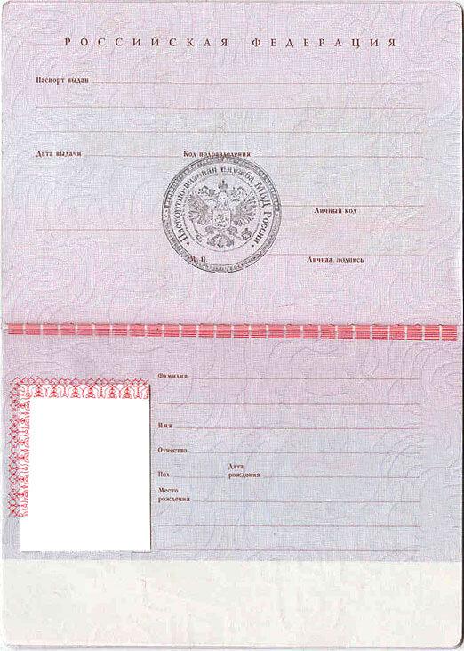Шаблон паспорта скачать
