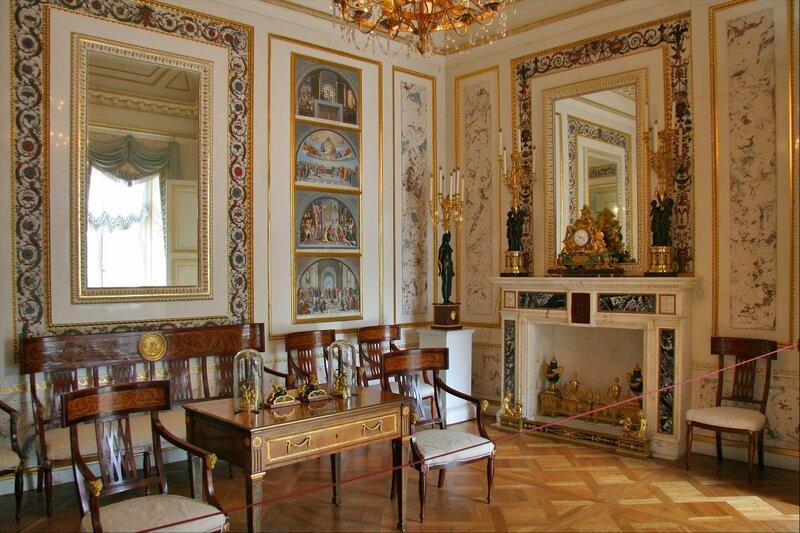 Павловский дворец, жилые комнаты I этажа, Новый кабинет