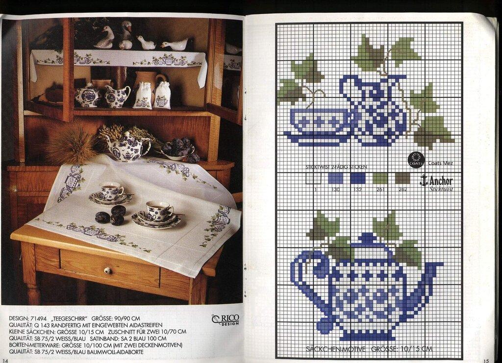 чайнички схемы для вышивки крестом