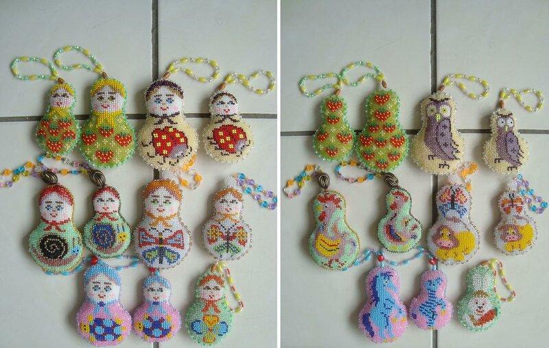 А это мои схемы матрёшек и всякие миниатюры, которые частично были на яйцах.  Собрала все схемы почти для...