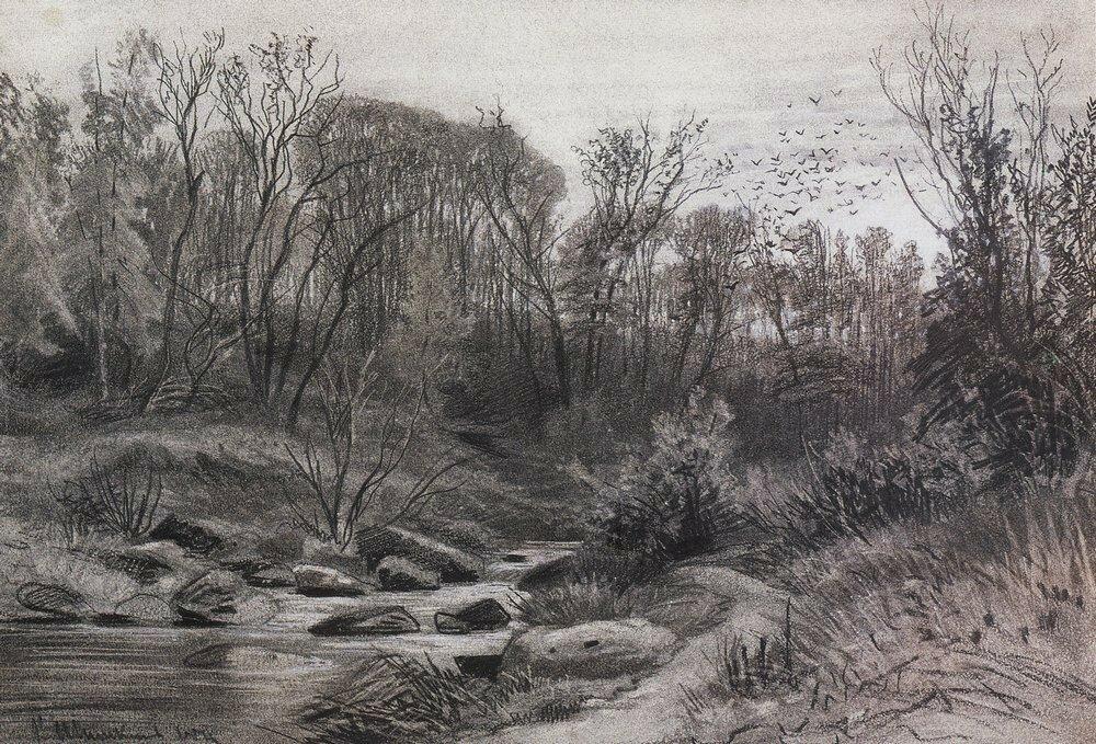 Лесной ручей. Вечер 1871 29,7х43,3.jpg