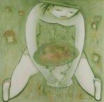 """Большой гриб"", холст, масло 150x150 2013"