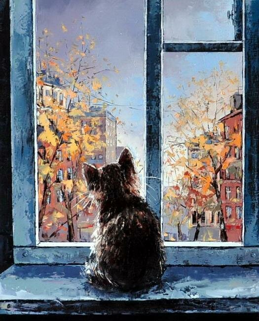 Александр Гунин. Осень из окна.