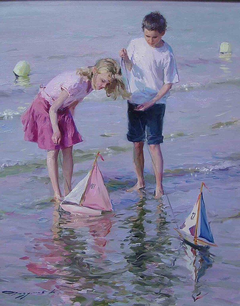 Konstantin Razoumov - Children on the beach - 40689-3306.jpg