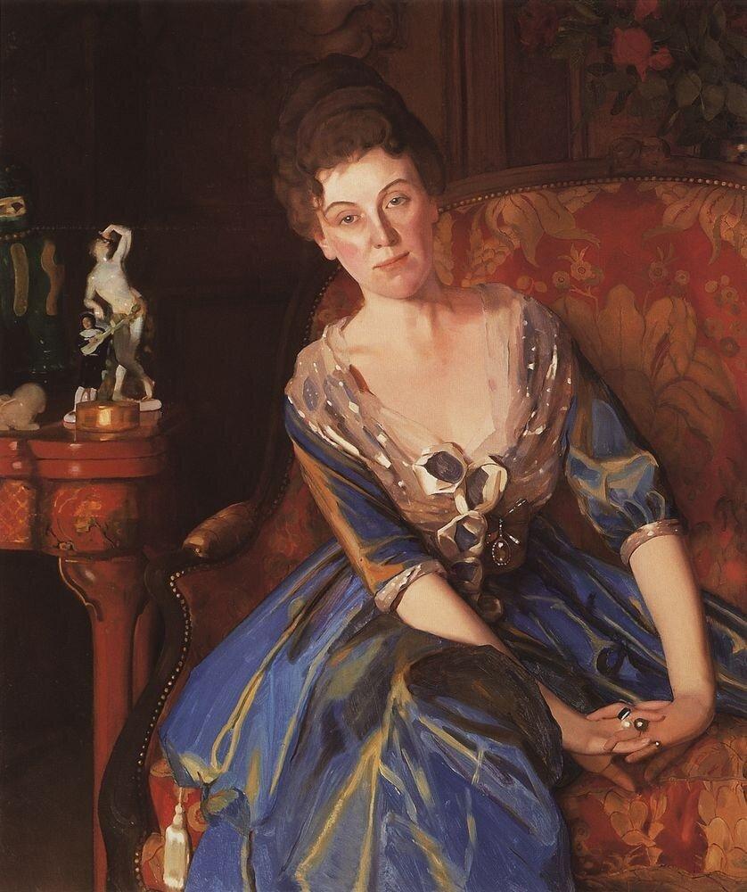 Портрет Е.П.Олив. 1914.jpg