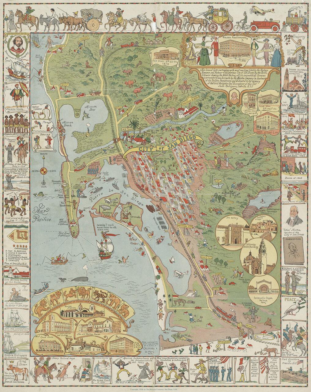 City of San Diego, Joseph Jacinto 'Jo' Mora, 1928
