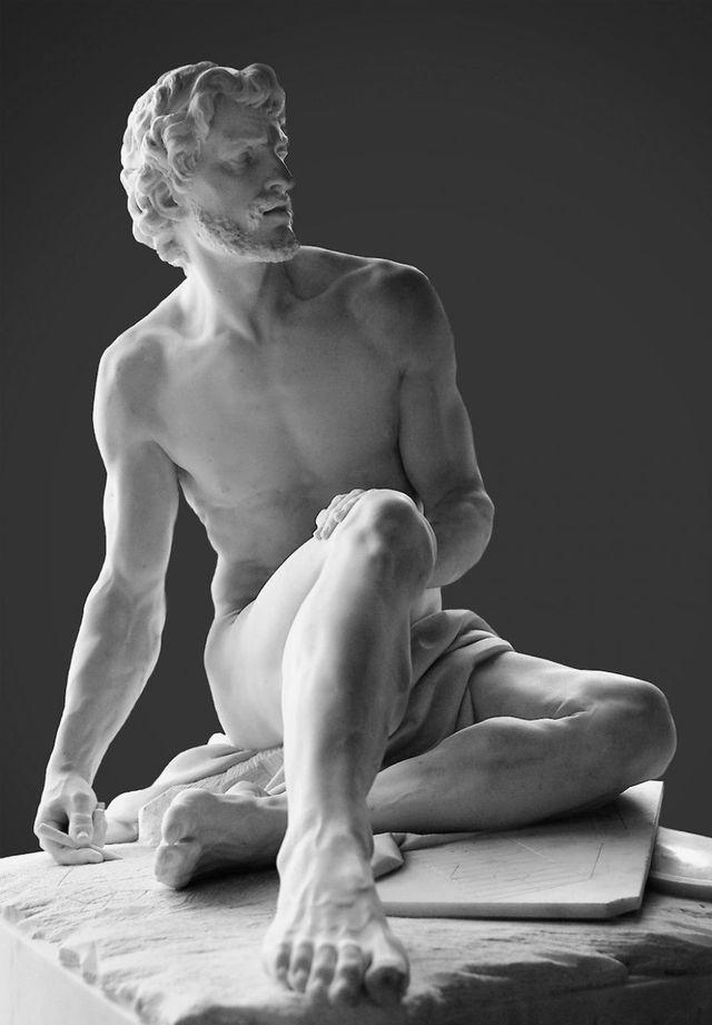 15. Архимед (© sissydude) Симон Луис Буке, 1752. Лувр.