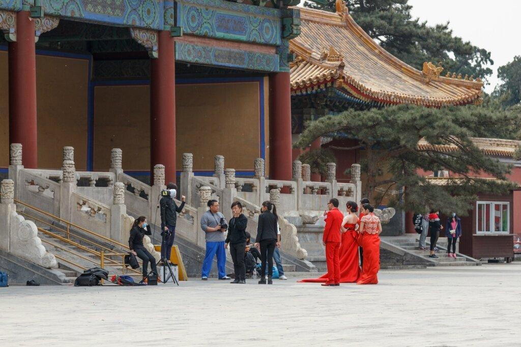 Фотографы и их модели, Храм Императорских Предков, Пекин