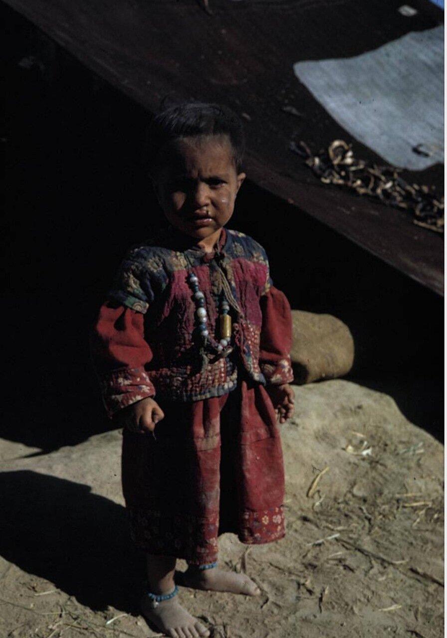 Ребенок кочевых пуштунов