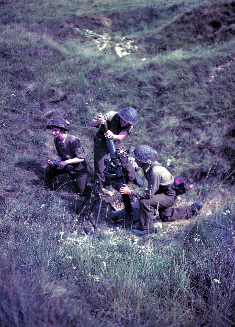 25. Три канадских солдата позируют для фотографа